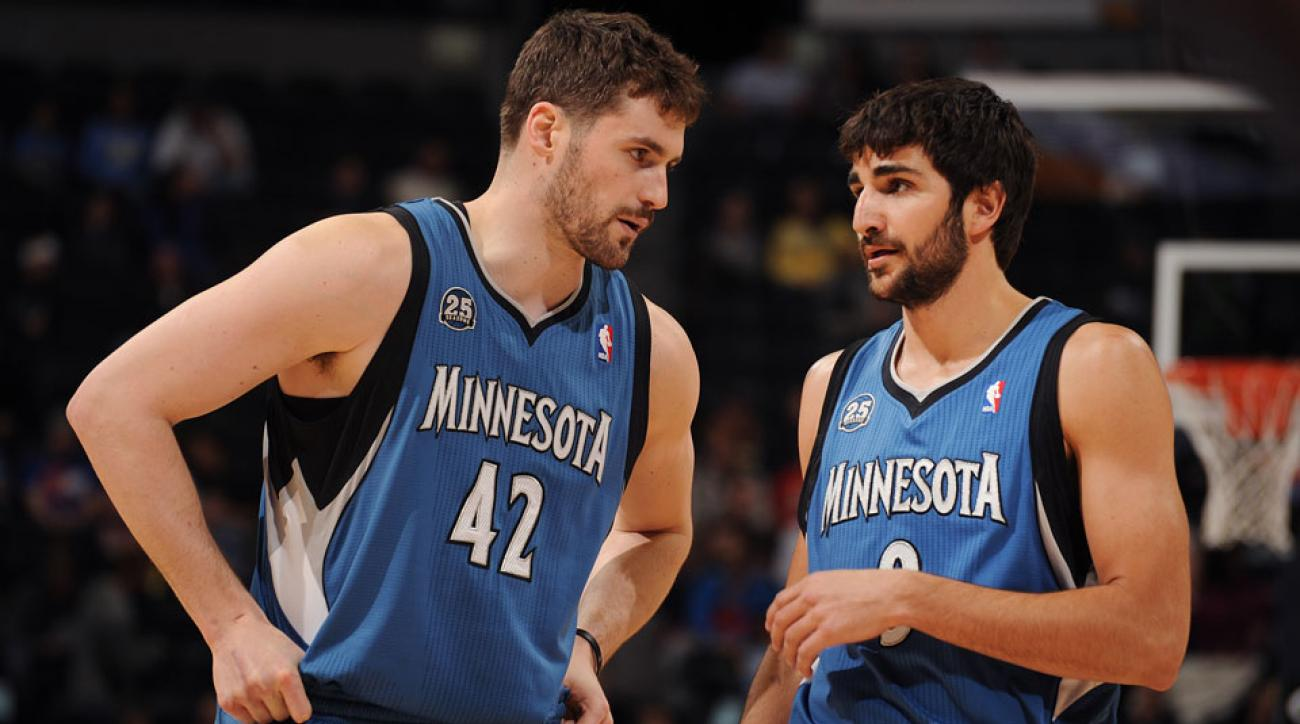 Minnesota Timberwolves Ricky Rubio and Kevin Love