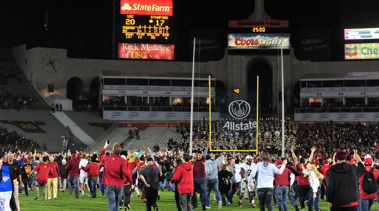 Security guard sues USC, Stanford game