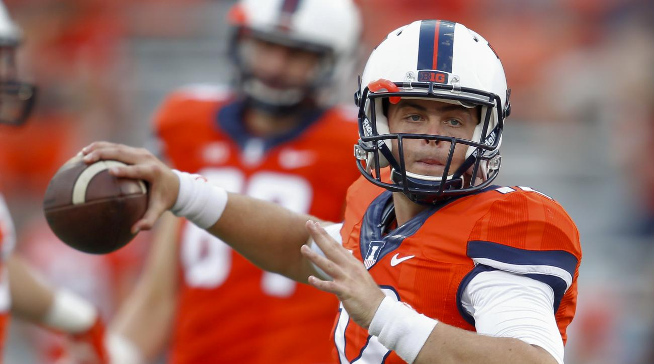 Wes Lunt, Illinois, quarterback, leg fracture, NCAA, College Football, out 4-6 weeks