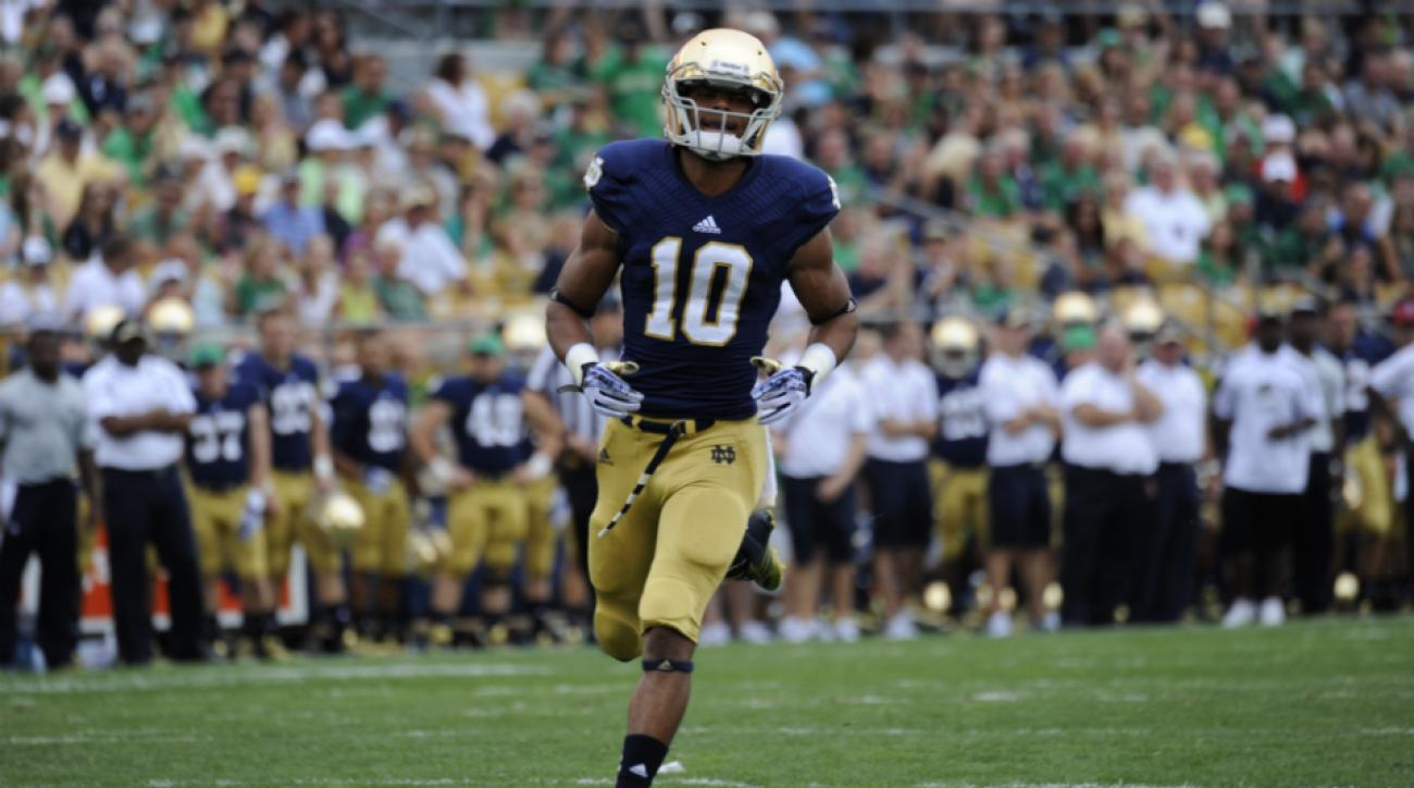 Suspended wide receiver DeVaris Daniels done Notre Dame