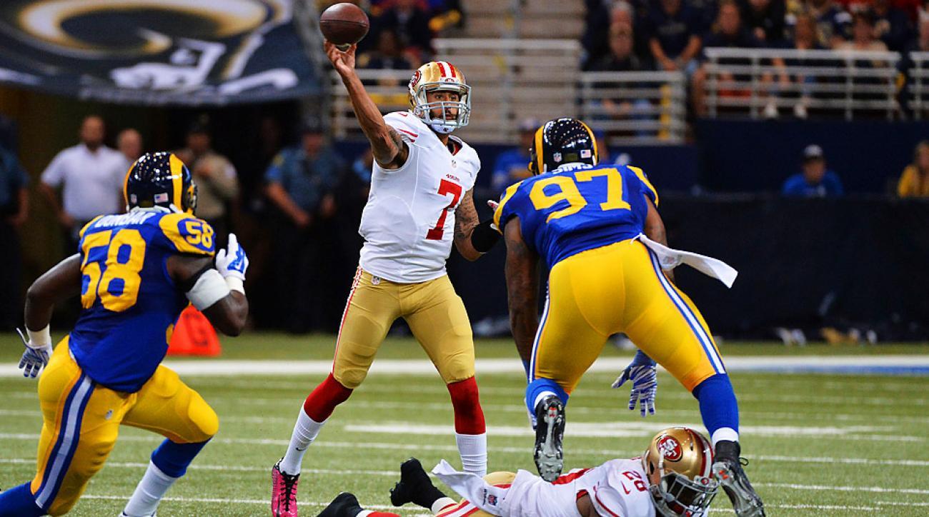 Colin Kaepernick, 49ers overcome slow start to take down Rams