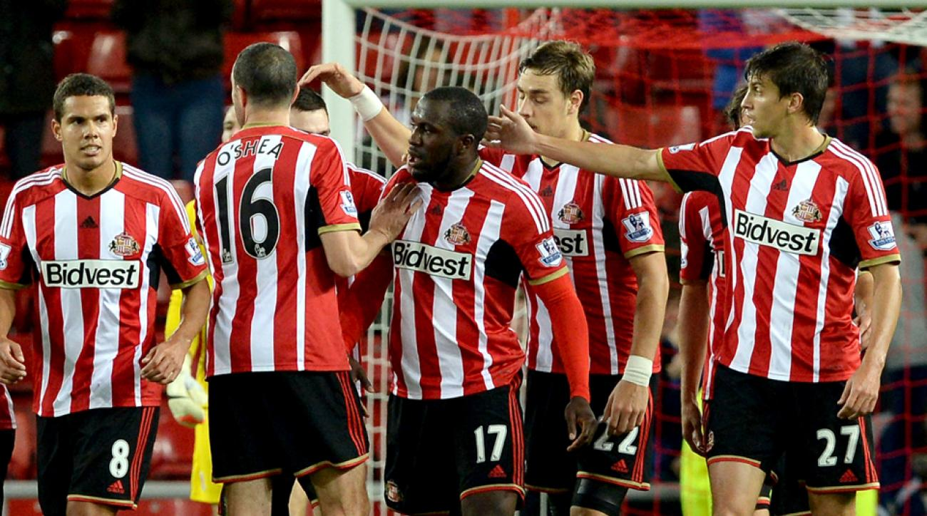 The celebratory moments have been few and far in between for U.S. forward Jozy Altidore, center, at Sunderland.