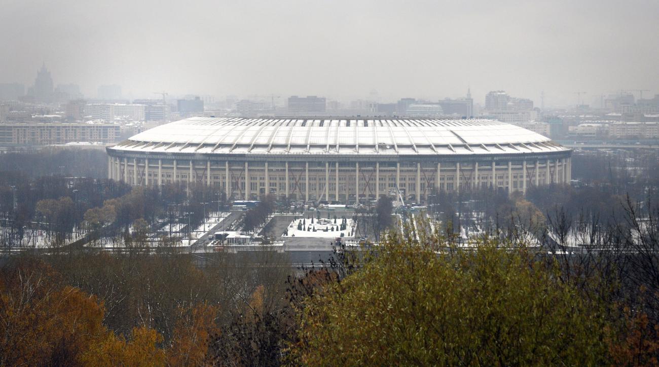 2018 World Cup stadium construction Russia