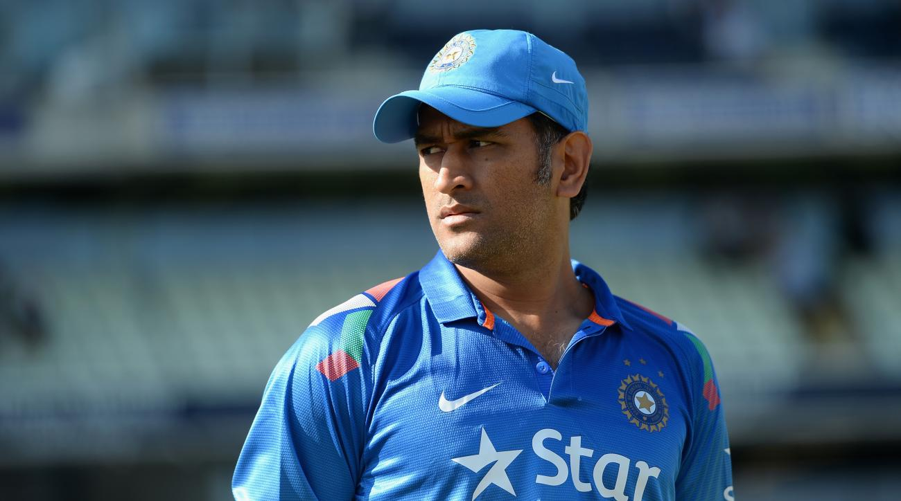 Mahendra Singh Dhoni of India ahead the 4th Royal London One Day International match between England and India at Edgbaston on September 2, 2014 in Birmingham, England.