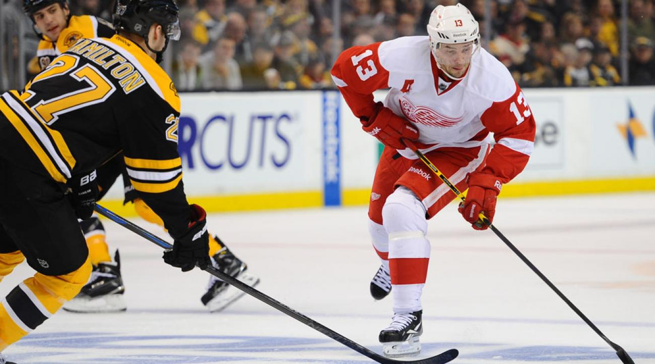Detroit Red Wings center Pavel Datsyuk will debut for the team on Tuesday.