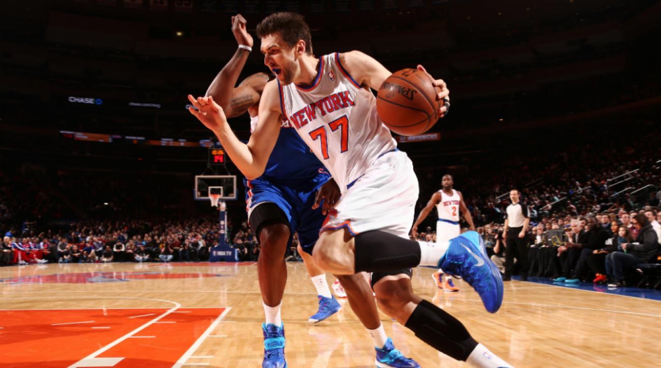 Knicks F/C Andrea Bargnani hamstring injury mri unsure hwen can return