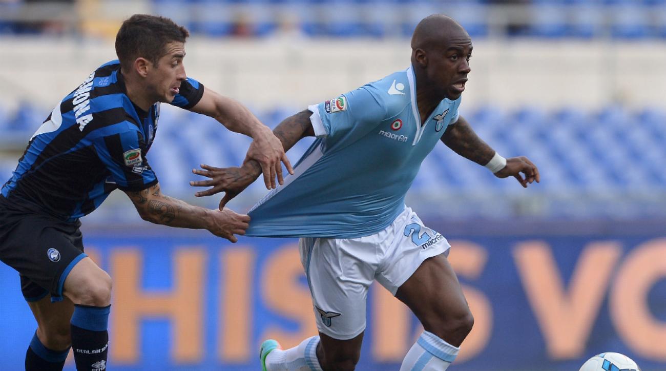 Gael Kakuta on loan at Lazio last season.
