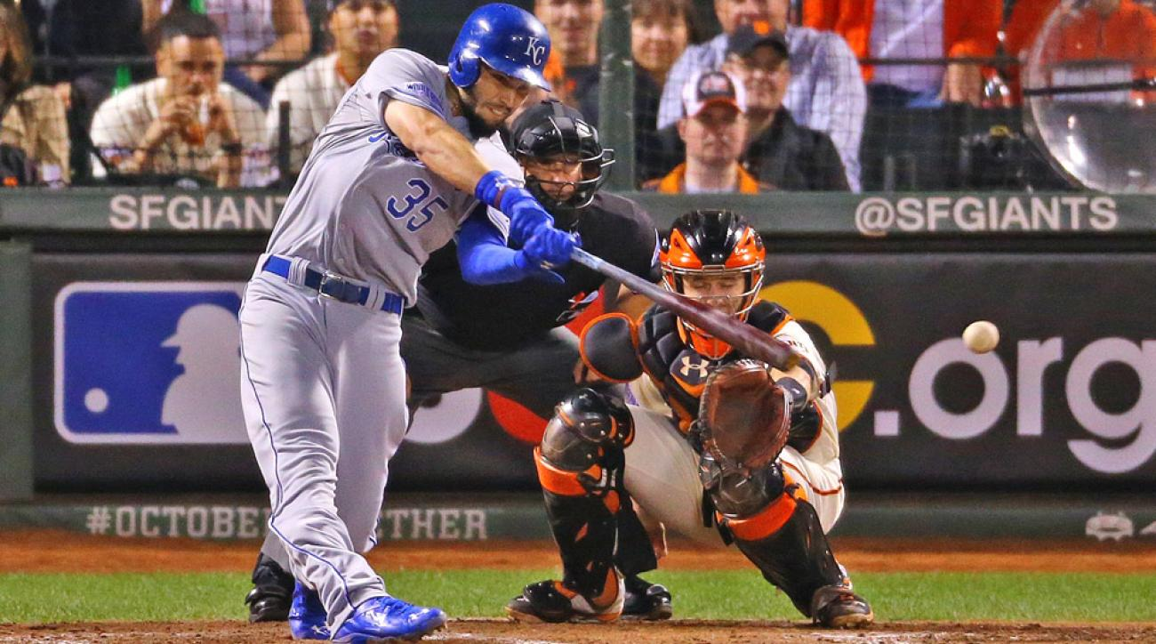 The Royals defeated the Giants in Game 3 of the World Series.