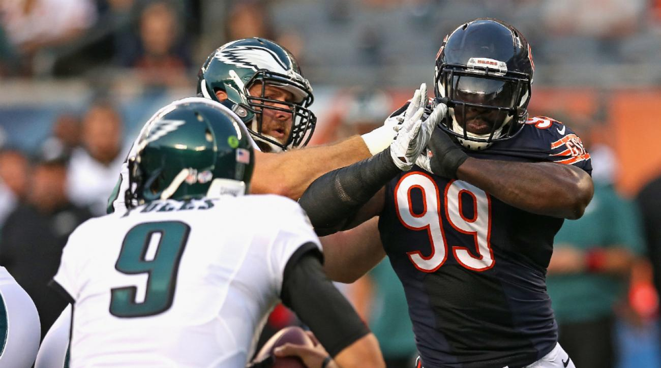 Bears DE Lamarr Houston injury celebrating sack