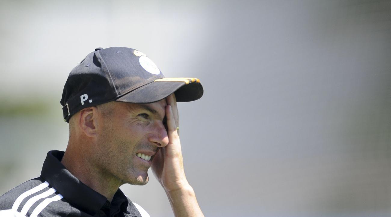 Coach Zinedine Zidane suspended
