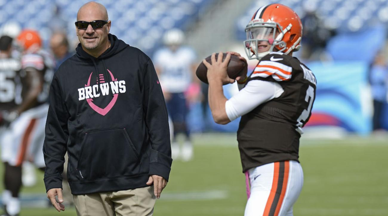cleveland browns johnny manziel frustrated mike pettine