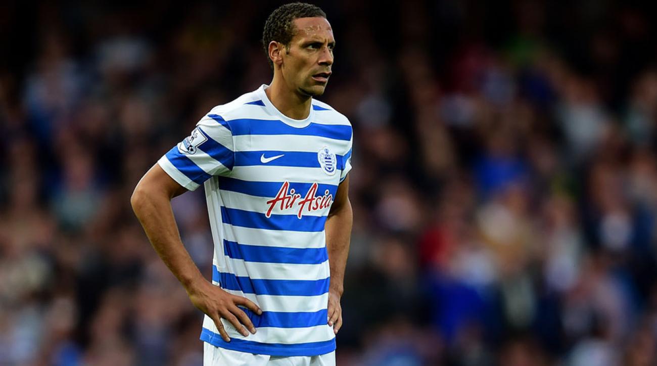 QPR Rio Ferdinand suspension fine Twitter