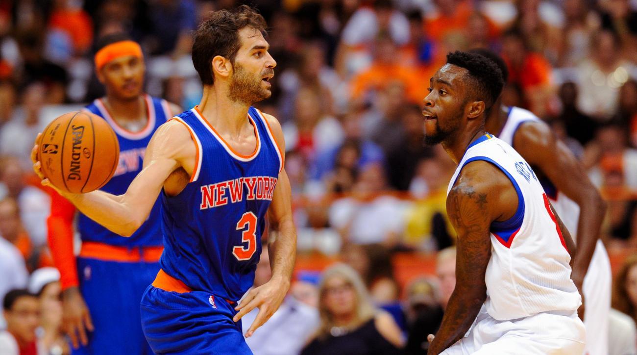 Knicks Jose Calderon calf injury