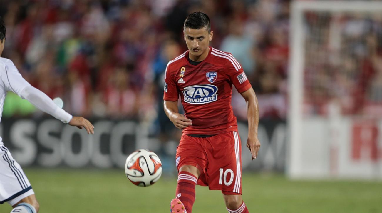 FC Dallas midfielder Mauro Diaz suspended