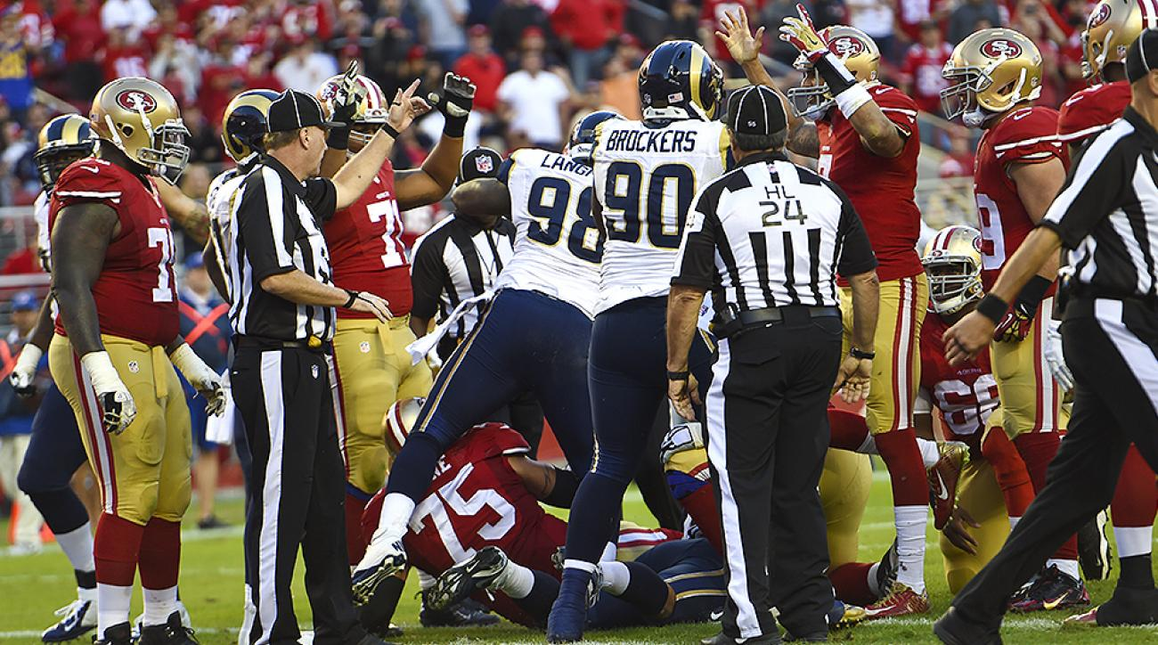 NFL Week 9: Colin Kaepernick's goal-line fumble thwarted 49ers' comeback attempt vs. Rams