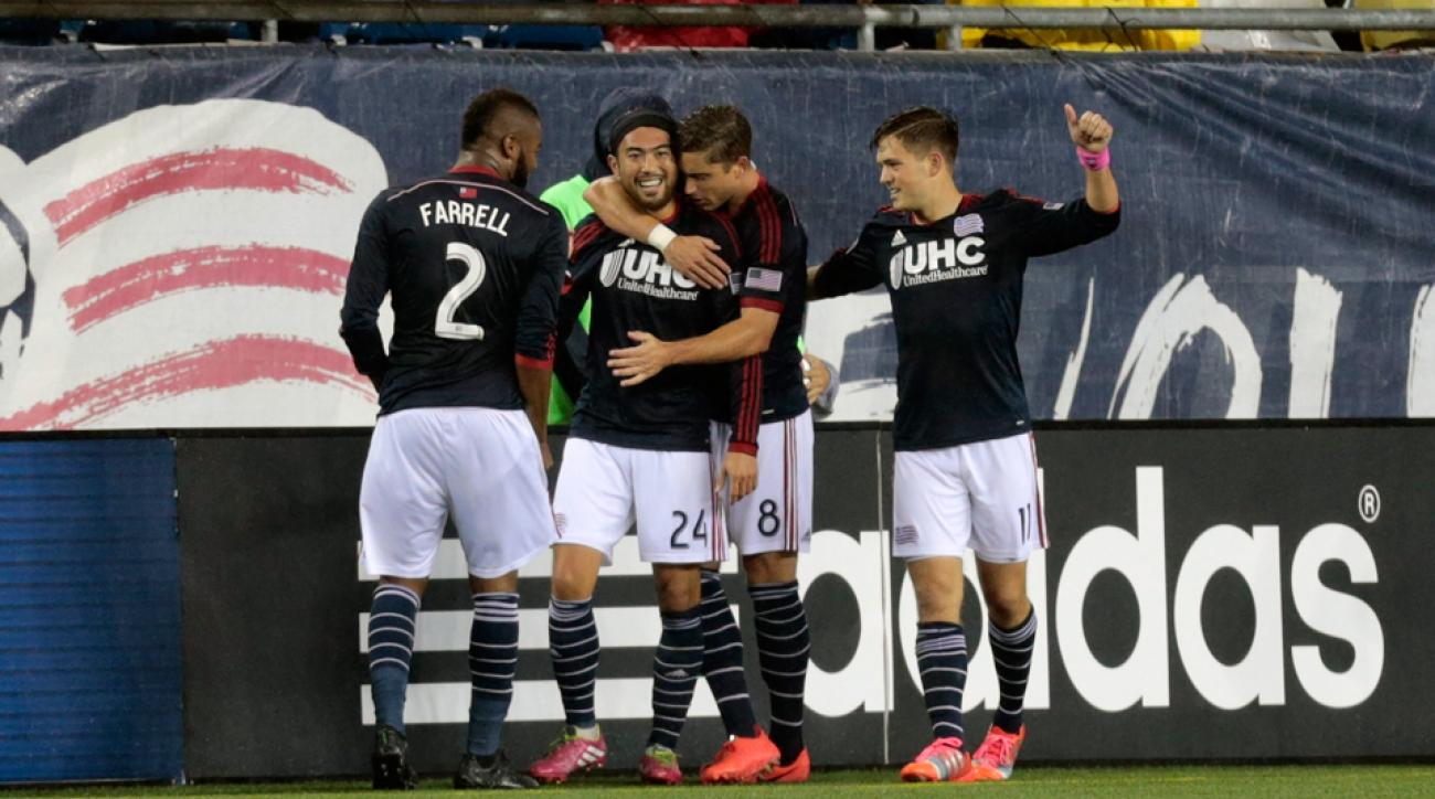 Lee Nguyen (24) had frequently been at the center of New England Revolution celebrations during a stellar 2014 campaign.