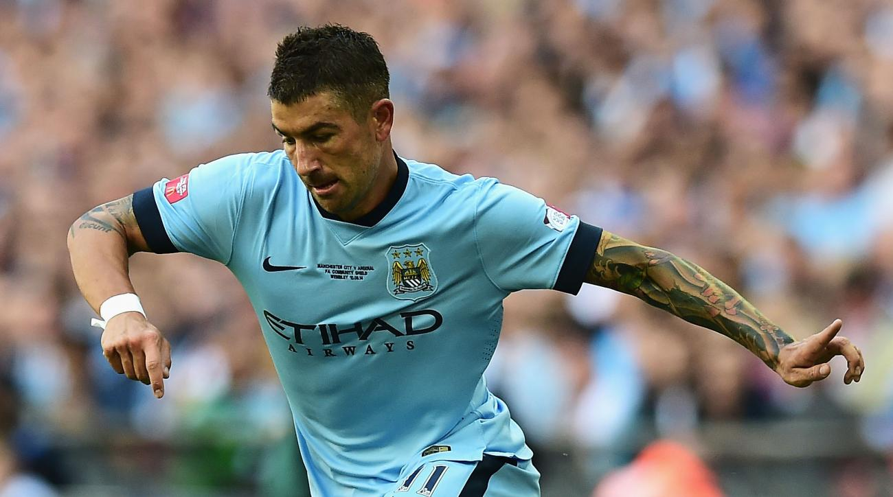 Manchester City Aleksandar Kolarov calf injury out