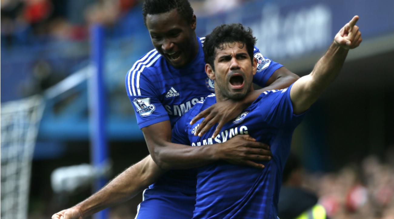 Diego Costa, right, has Chelsea pointed in the right direction, with the club unbeaten through 10 Premier League games.