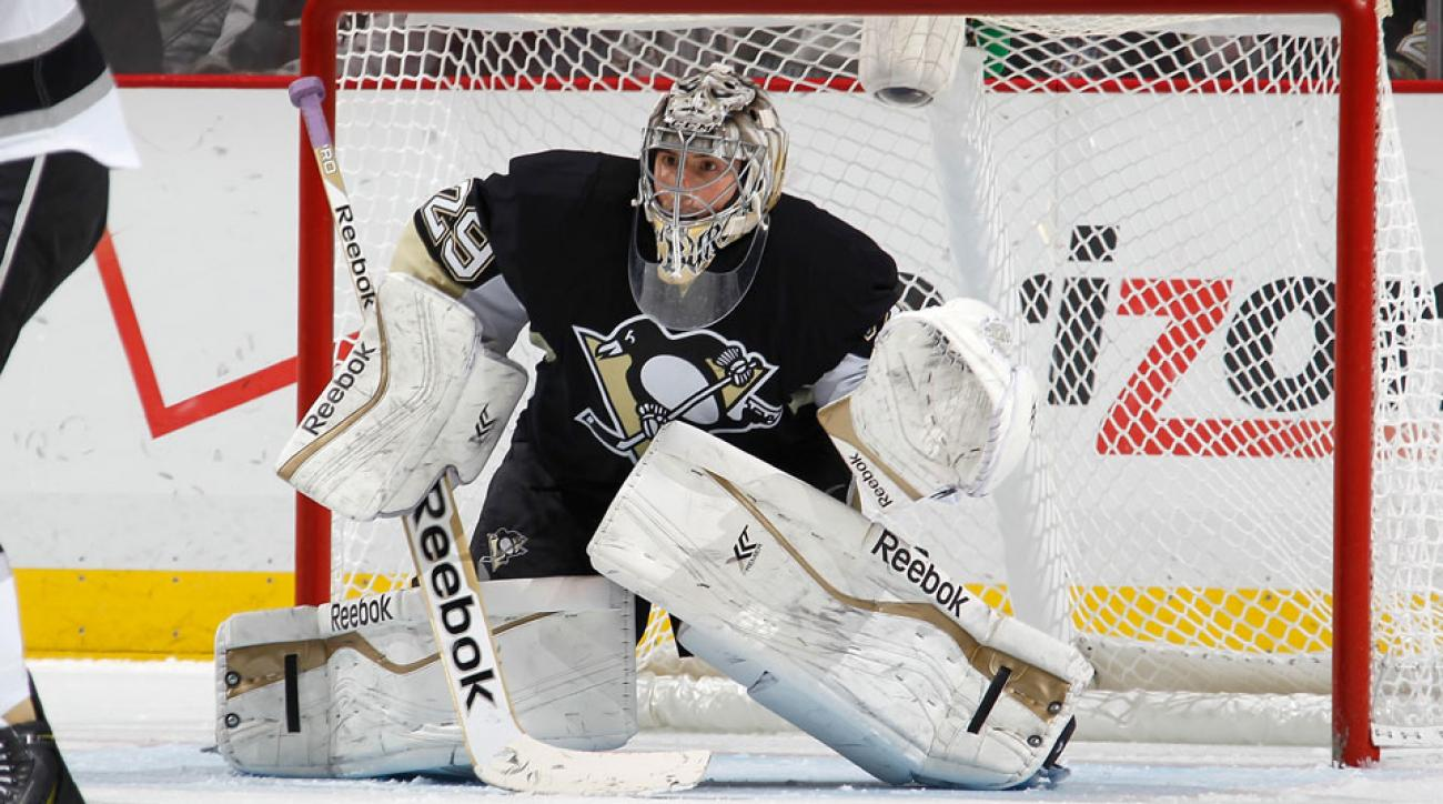 Pittsburgh Penguins sign goalie Marc-Andre Fleury to four ...