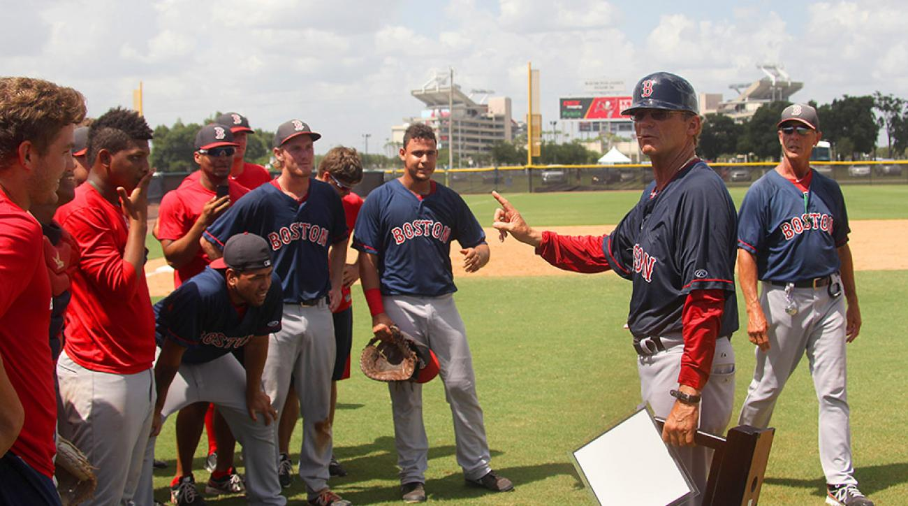 In addition to his scouting duties, Tom Kotchman has spent 35 years as a minor league manager, most recently with the Red Sox' Gulf Coast League affiliate.