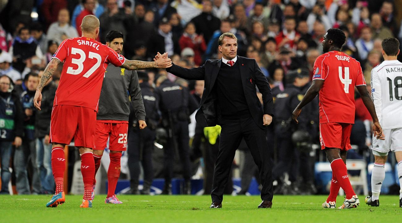 Liverpool manager Brendan Rodgers has a rested set of starters after going with a second-tier lineup against Real Madrid in midweek.