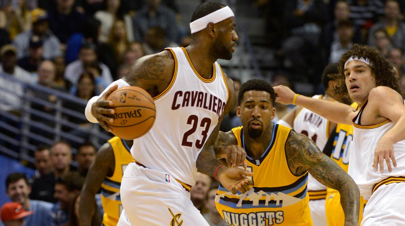 LeBron James scored 22 points in the Cavaliers win against the Nuggets on Friday night.