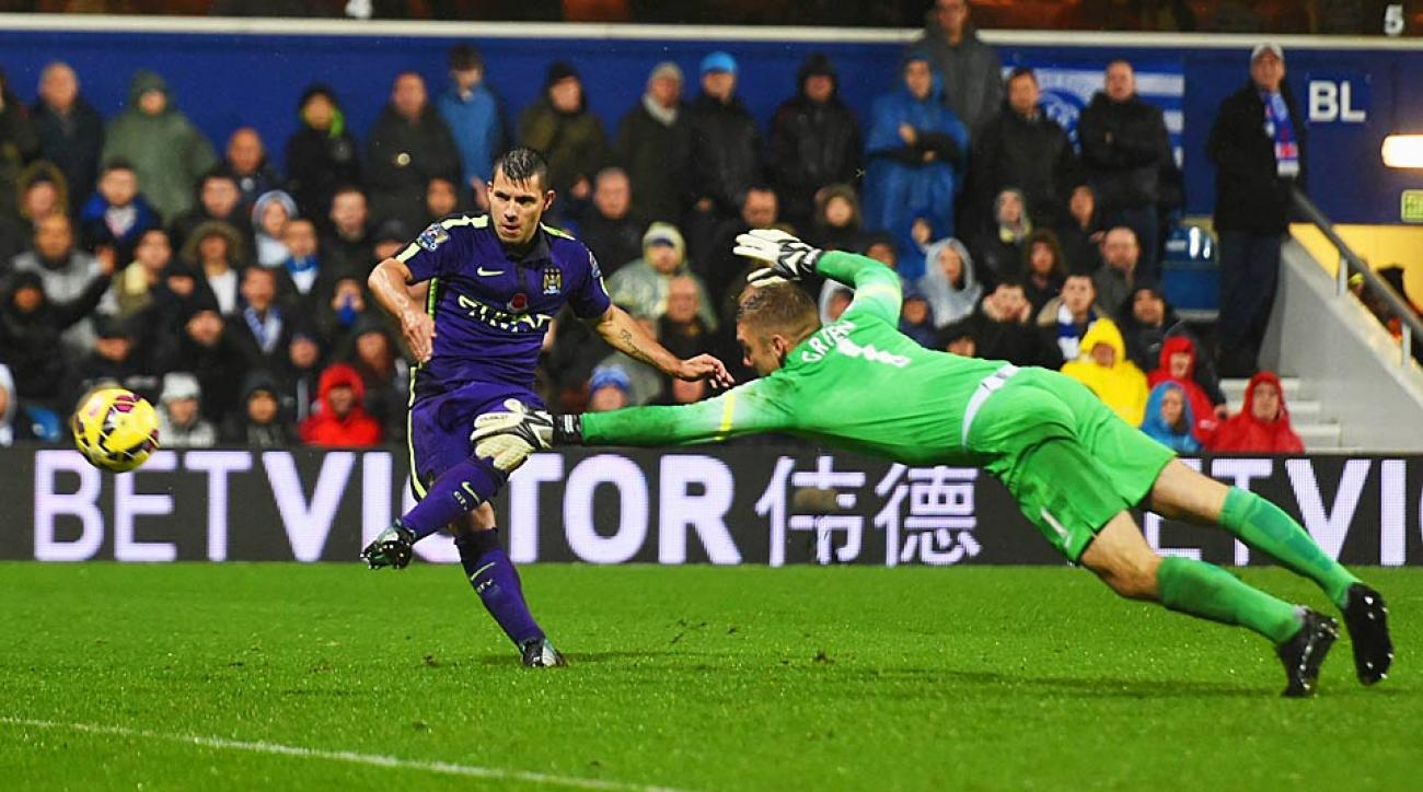 Sergio Aguero Manchester City vs. QPR