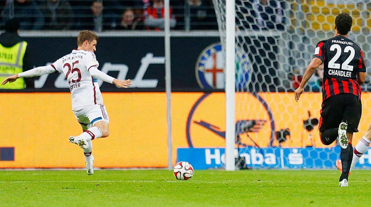 Thomas Muller Bayern Munich vs. Eintracht