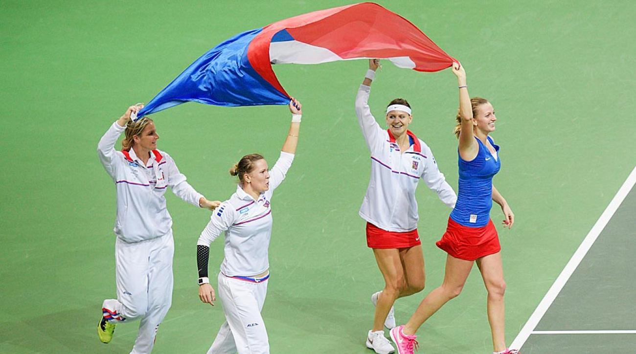 Czech Republic celebrates Fed Cup win