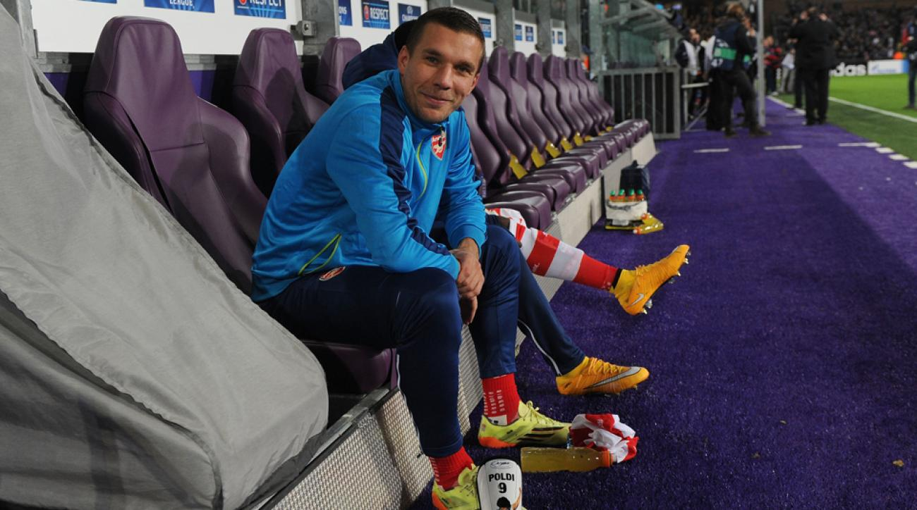 Arsenal forward Lukas Podolski is reportedly unhappy with his role at the club.