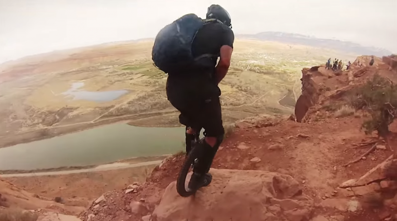unicycling in moab gopro