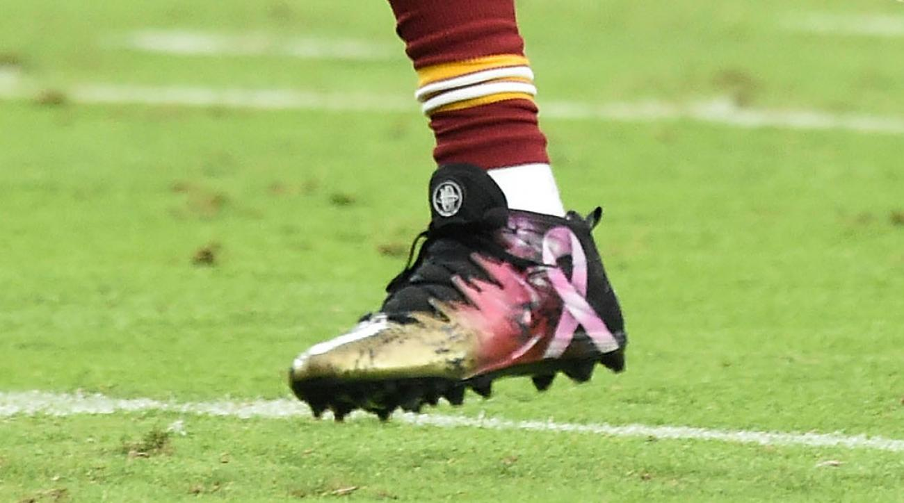 Redskins WR DeSean Jackson wore these custom cleats earlier this season.