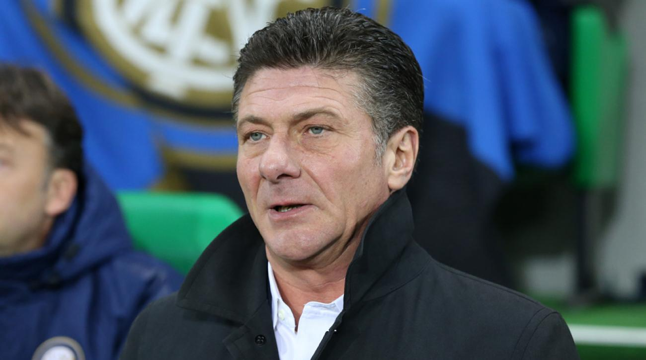 Inter Milan has sacked Walter Mazzarri and replaced him with Roberto Mancini.