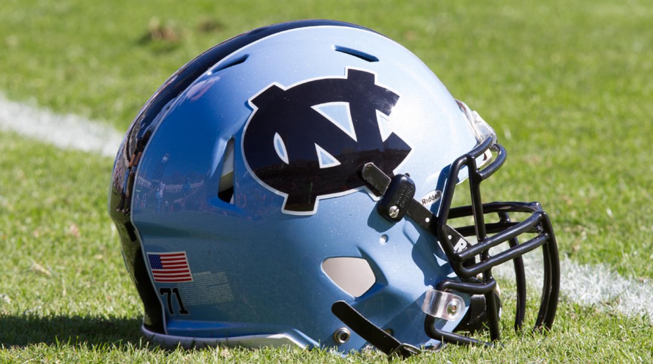 North Carolina football helmet