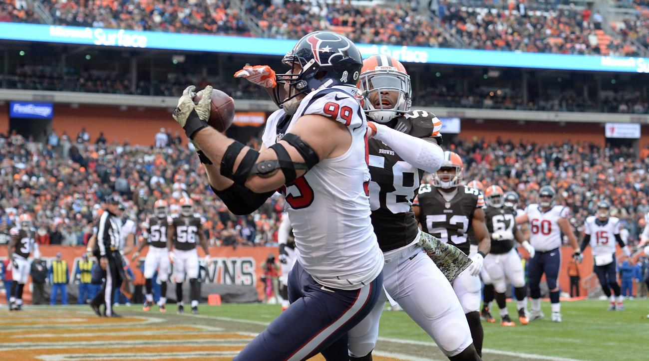 JJ Watt Houston Texans touchdown on offense Cleveland Browns