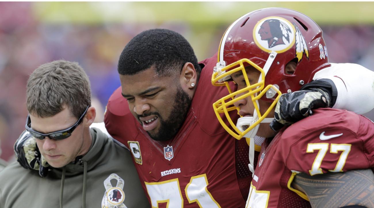 Redskins Trent Williams knee injury mcl