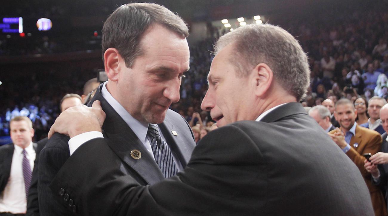 The last time Mike Krzyzewski and Tom Izzo faced off in the Champions Classic, Coach K became the winningest coach in men's Division I history.
