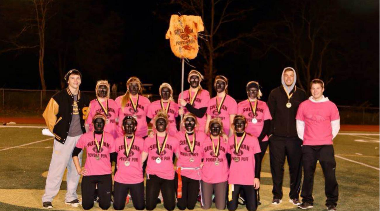High School powder puff blackface