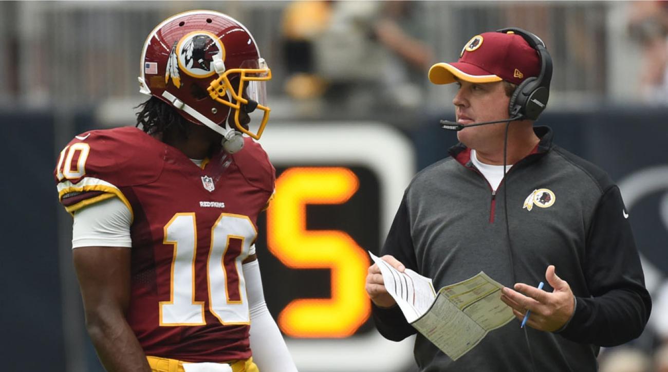 Washington Redskins RGIII and Jay Gruden