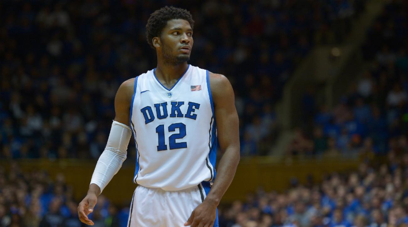 Duke's Justise Winslow leaps over rejects Stanford's Chasson Randle