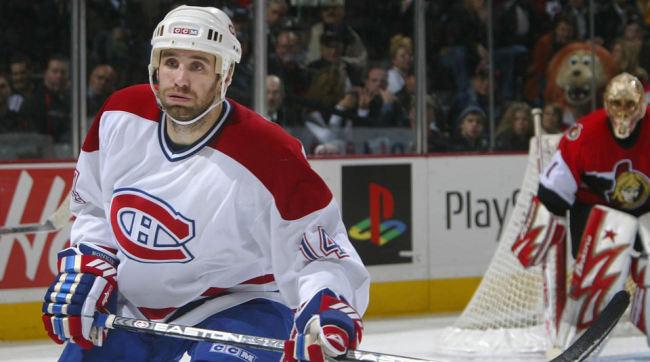 Radek Bonk #14 of the Montreal Canadiens skates against the Ottawa Senators during a NHL game at the Corel Centre November 29, 2005