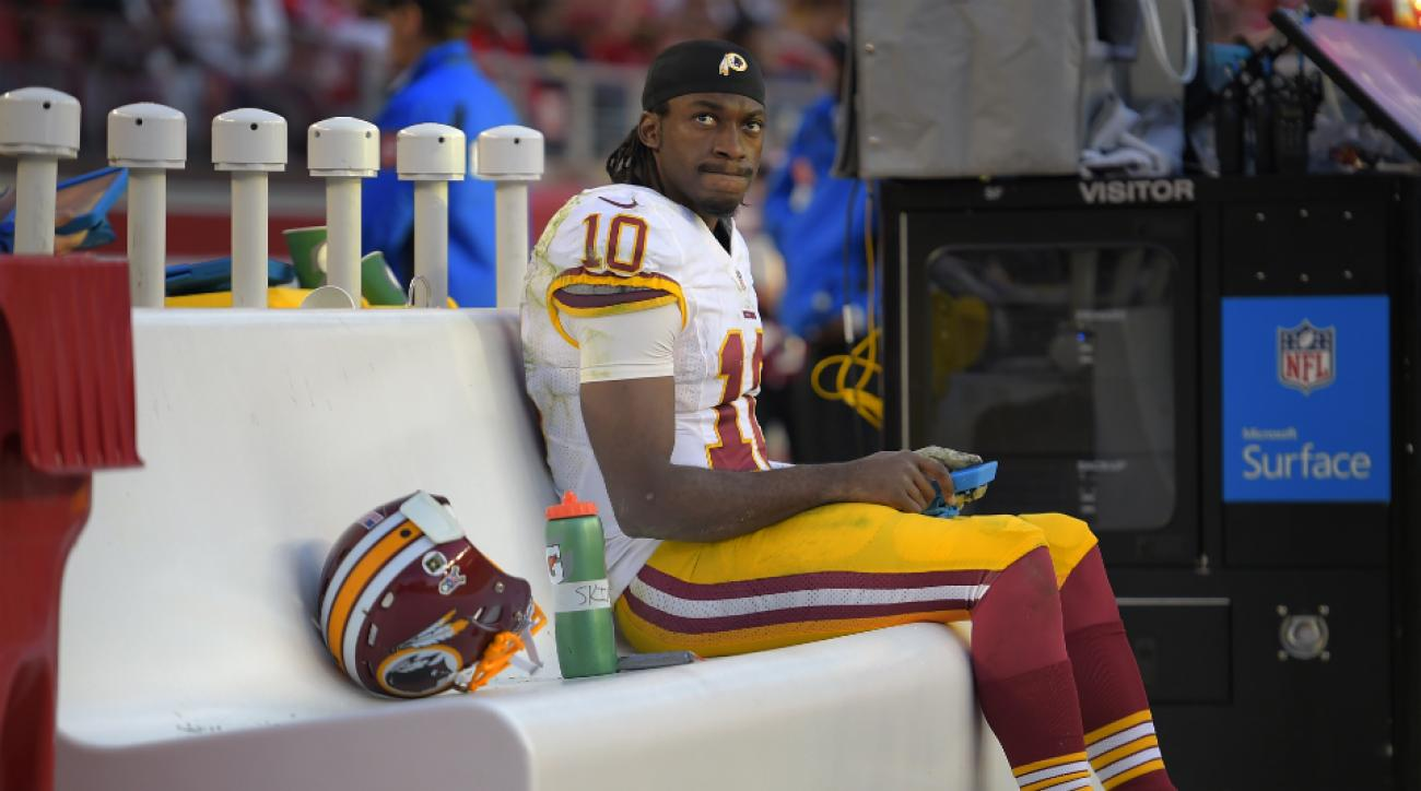 Redskins QB RG3 start Sunday vs. Colts