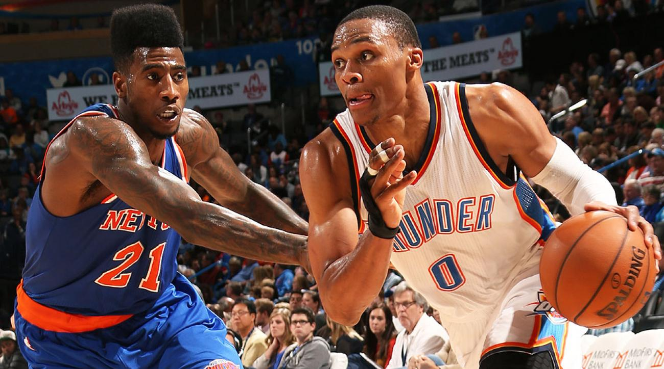Russell Westbrook had 32 points, eight assists and seven rebounds in his return to the Thunder.