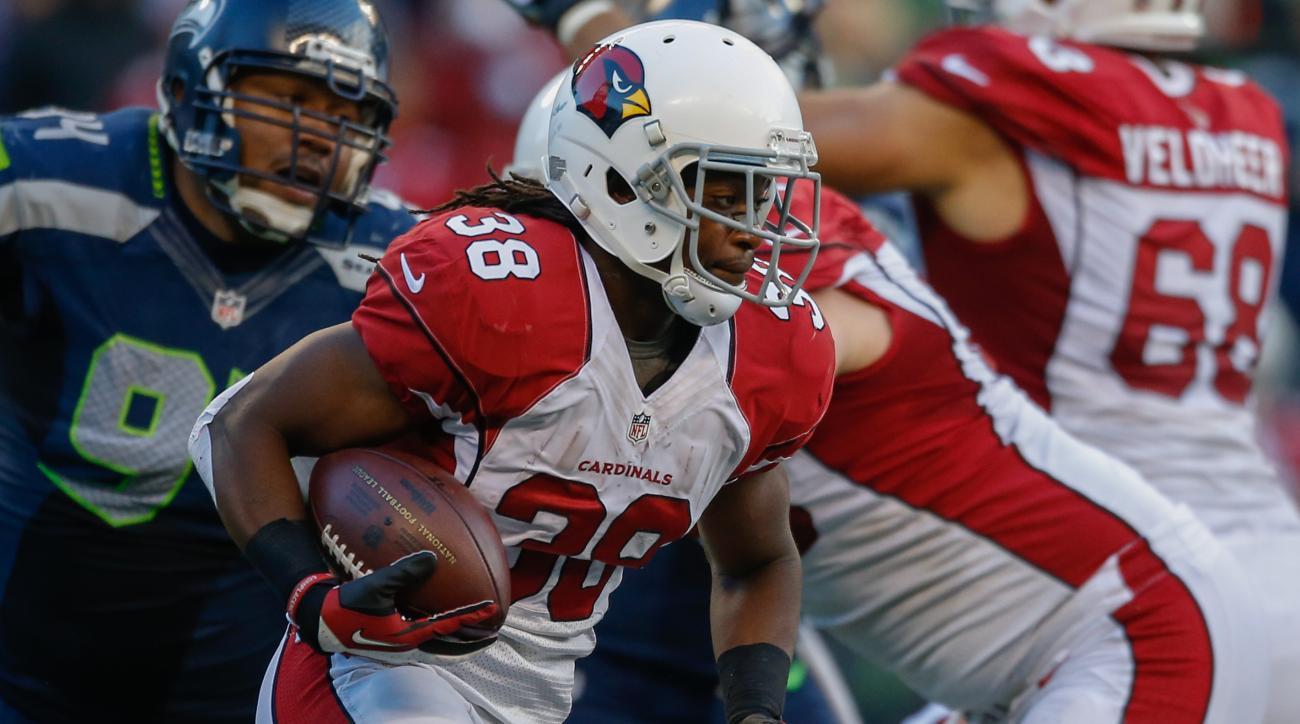 Arizona Cardinals Andre Ellington hip injury Atlanta Falcons