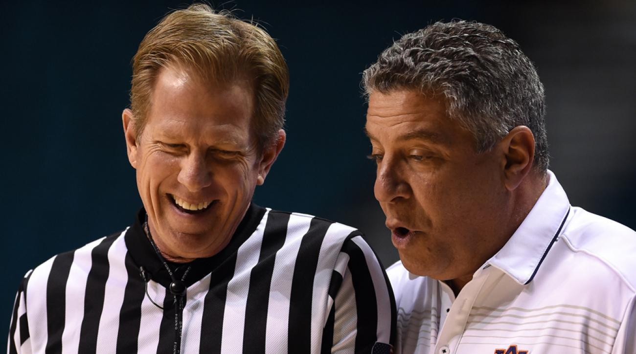Referee Rick Crawford elbowed head