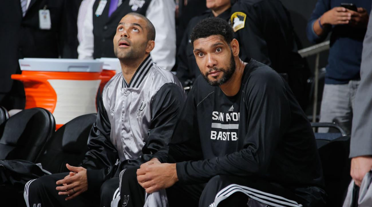 Tony Parker and Tim Duncan