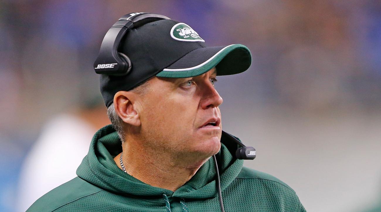 New York Jets coach Rex Ryan embarrassed