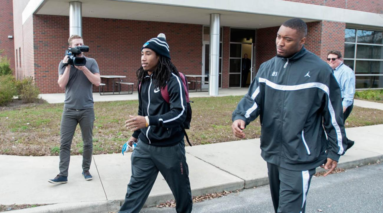 Florida State players Ronald Darby (left) and Chris Casher reportedly refused to testify during hearing for Jameis Winston.