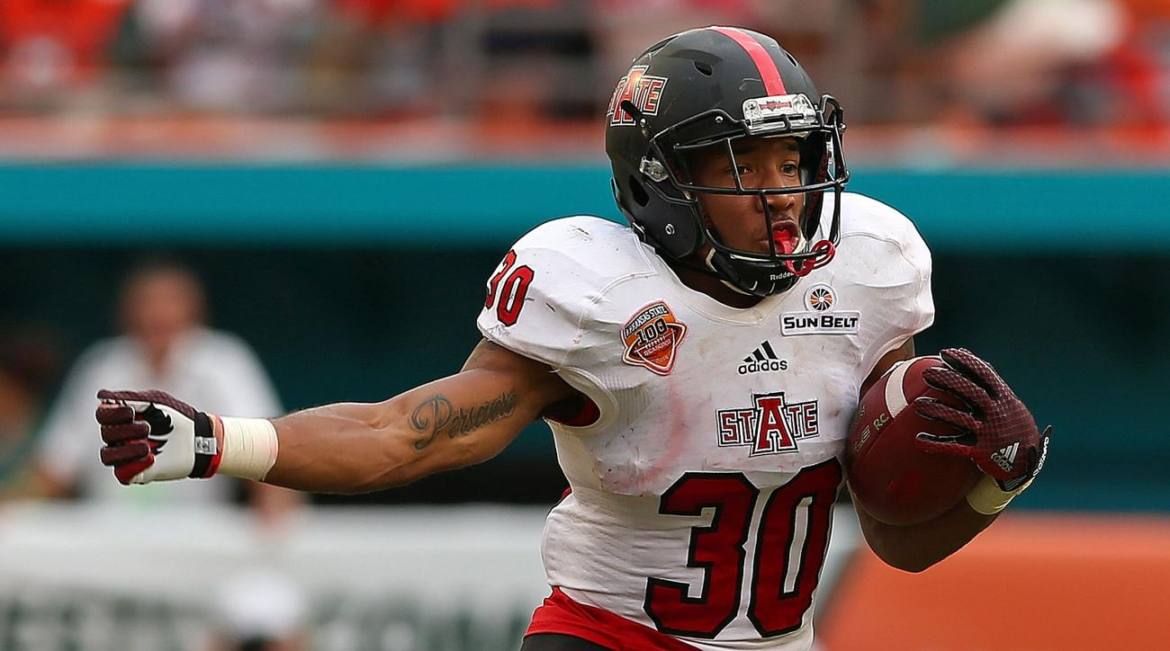 Arkansas State running back Johnston White