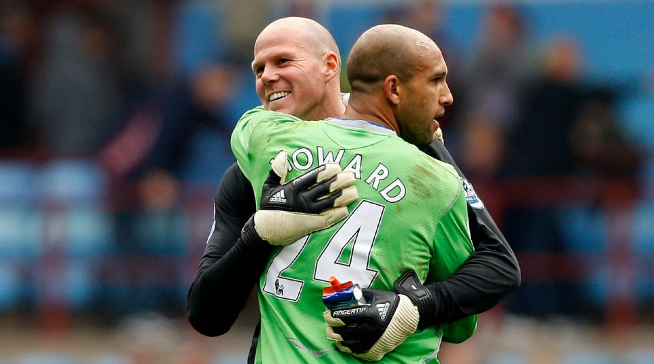 Tim Howard, U.S. and Everton goalkeeper, claims fellow American Brad Friedel tried to block his transfer to Manchester United.